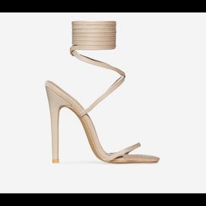 EGO Official - Lace up Nude Heels - Never Worn